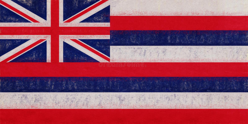 Drapeau de grunge d'Hawaï illustration stock