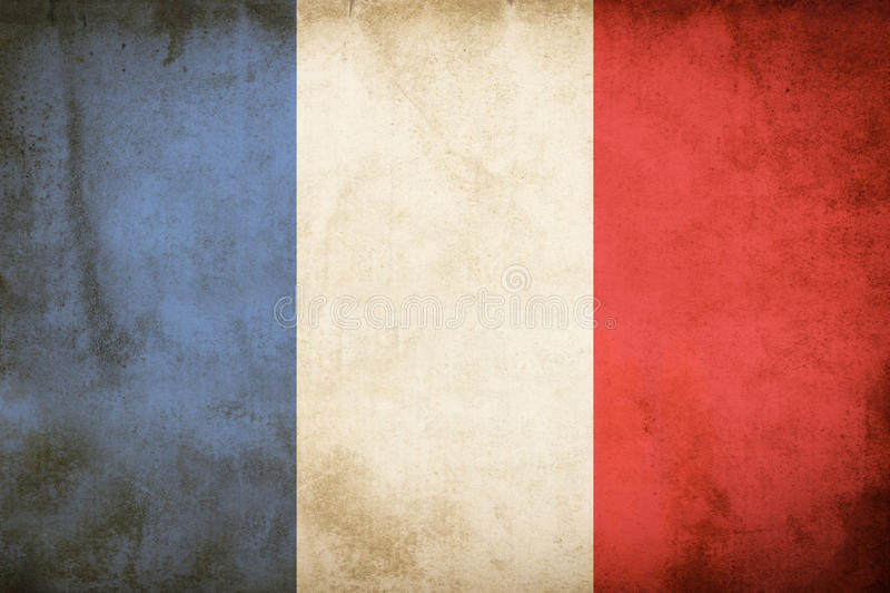 Drapeau de grunge de Frances images stock