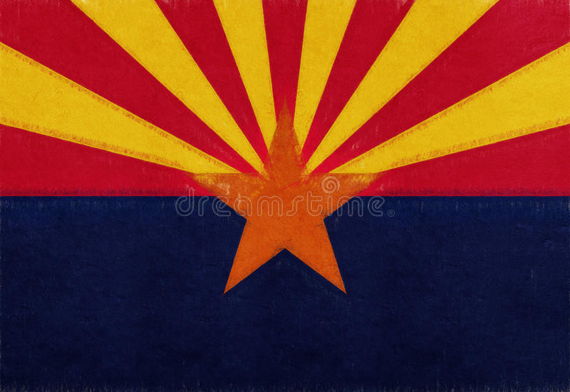 Drapeau de grunge de l'Arizona illustration de vecteur