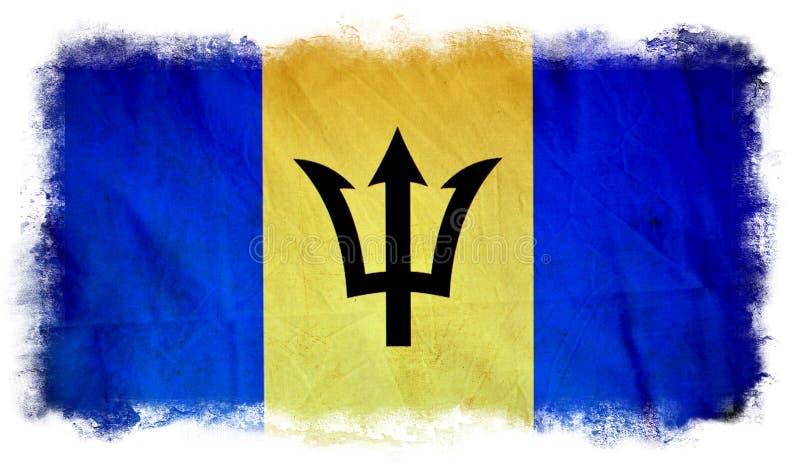 Drapeau de grunge des Barbade illustration libre de droits