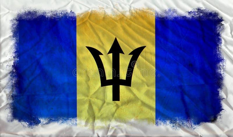 Drapeau de grunge des Barbade illustration de vecteur