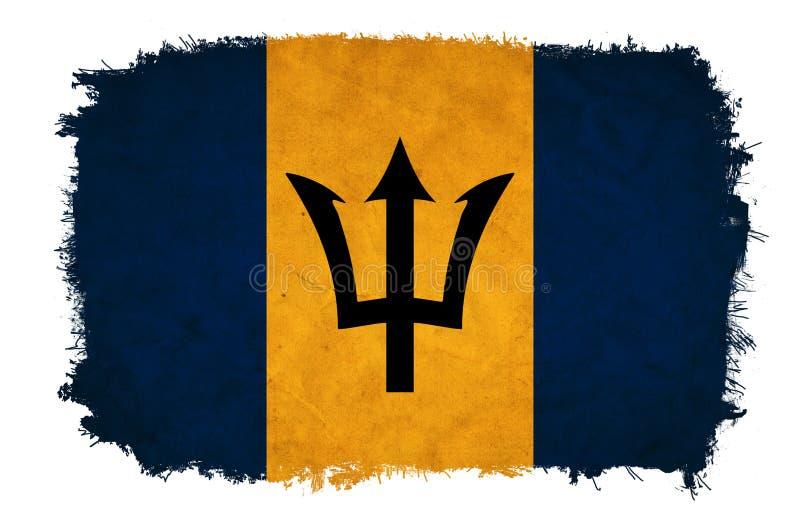 Drapeau de grunge des Barbade illustration stock
