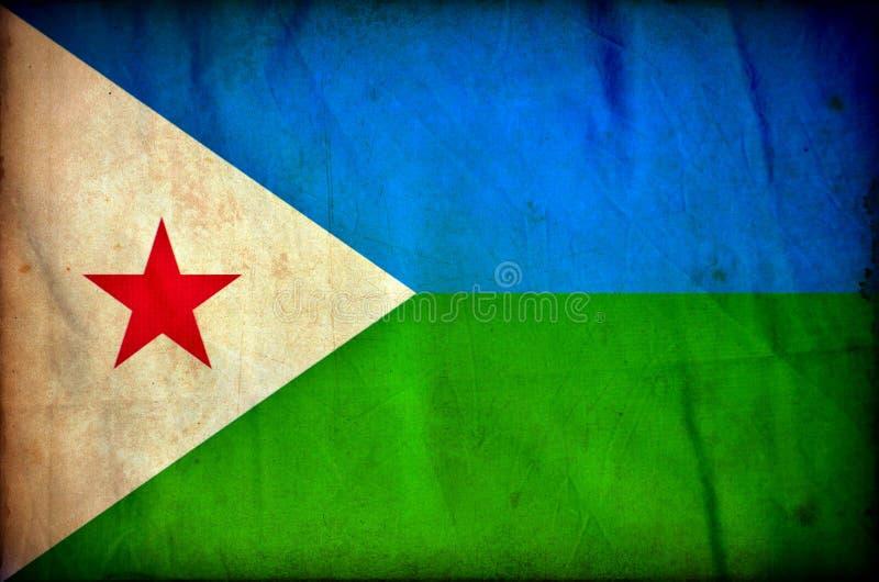 Drapeau de grunge de Djibouti illustration libre de droits
