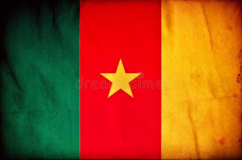 Drapeau de grunge du Cameroun illustration libre de droits