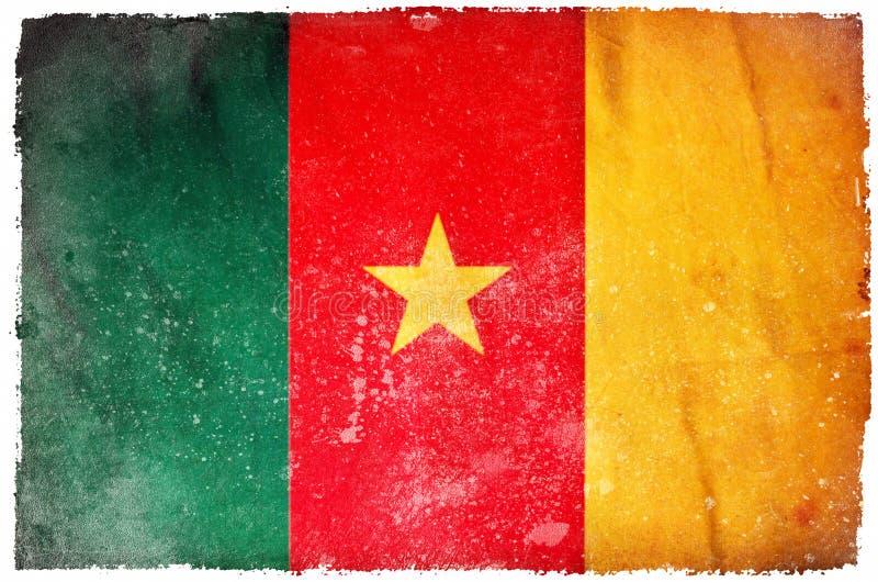 Drapeau de grunge du Cameroun illustration de vecteur