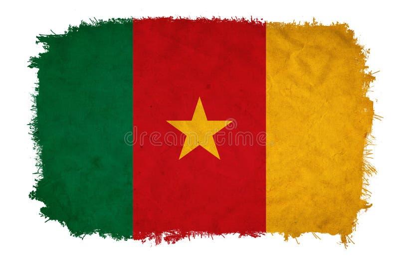 Drapeau de grunge du Cameroun illustration stock