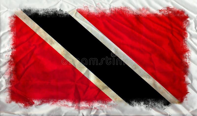 Drapeau de grunge du Trinidad-et-Tobago image libre de droits