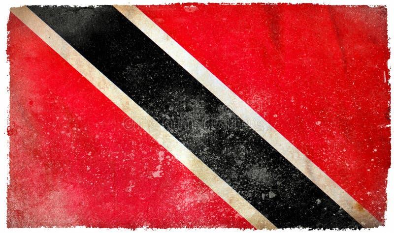 Drapeau de grunge du Trinidad-et-Tobago photo libre de droits