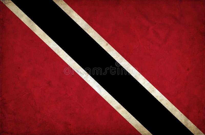 Drapeau de grunge du Trinidad-et-Tobago photo stock