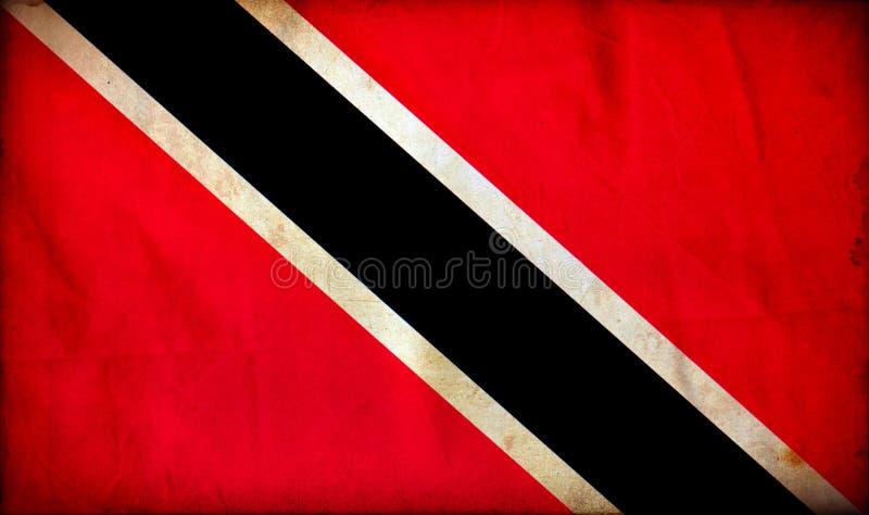 Drapeau de grunge du Trinidad-et-Tobago photos stock