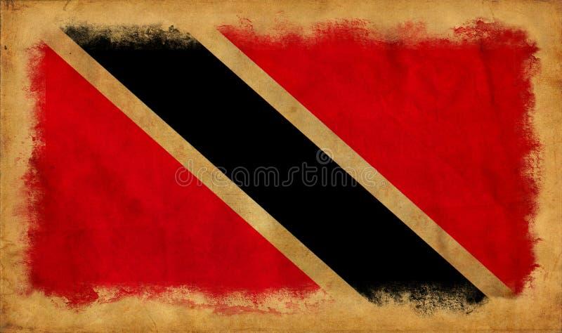 Drapeau de grunge du Trinidad-et-Tobago photographie stock libre de droits