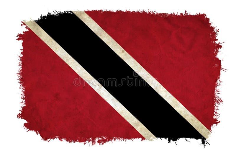 Drapeau de grunge du Trinidad-et-Tobago images stock