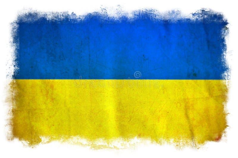 Drapeau de grunge de l'Ukraine illustration libre de droits