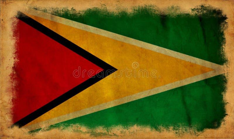Drapeau de grunge de la Guyane illustration stock