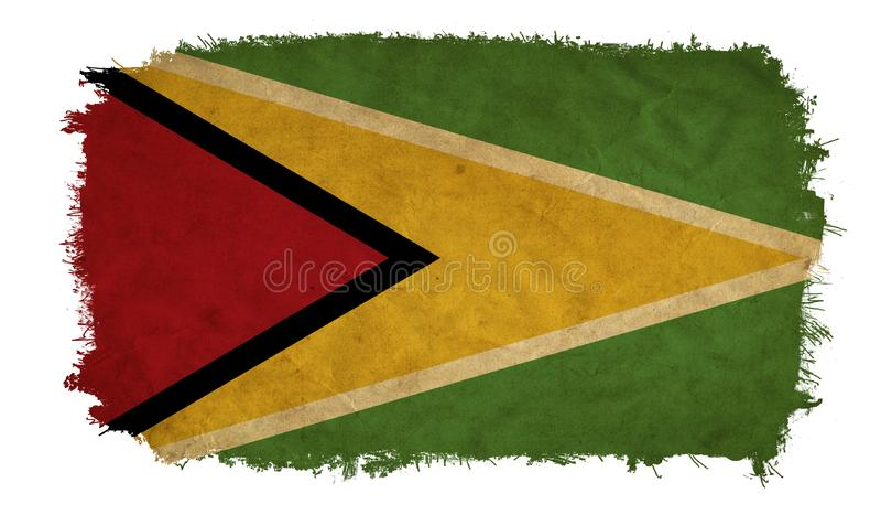 Drapeau de grunge de la Guyane illustration libre de droits