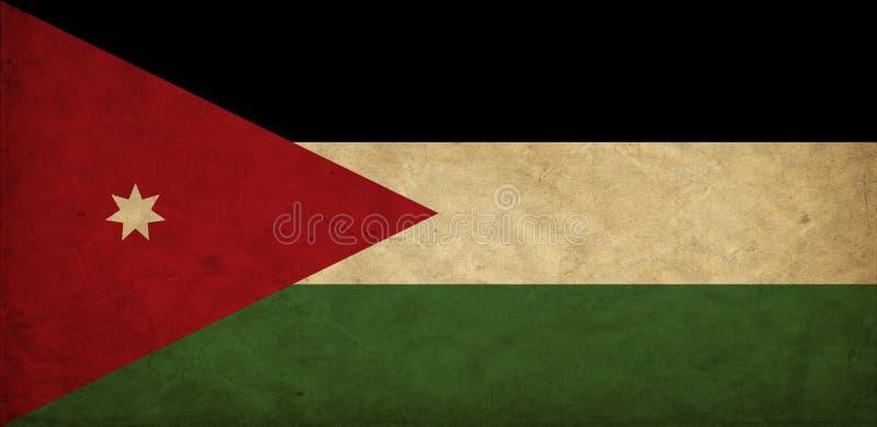 Drapeau de grunge de la Jordanie illustration de vecteur
