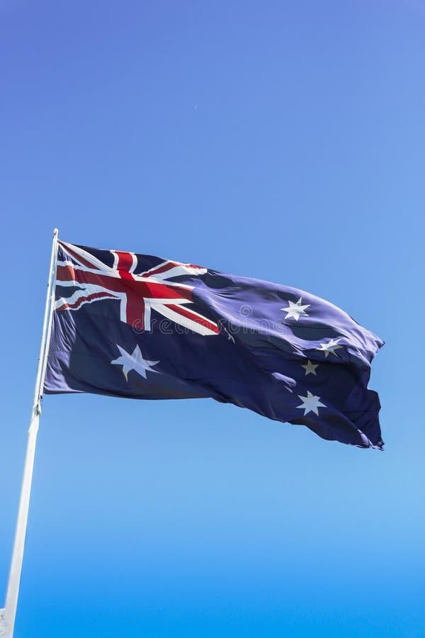 Drapeau de haute de vol de l'Australie photo libre de droits