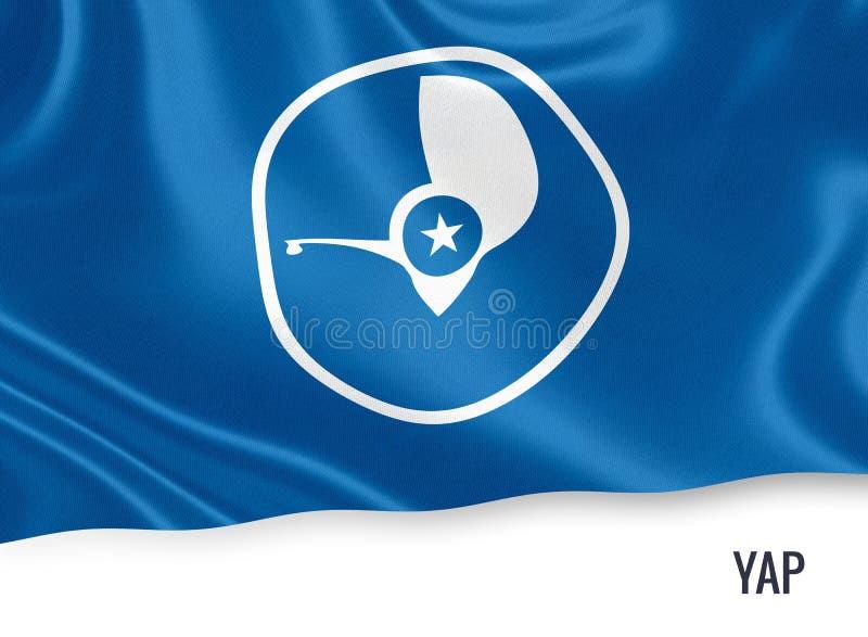 Drapeau de jacasserie d'état des Etats fédérés de Micronésie illustration stock