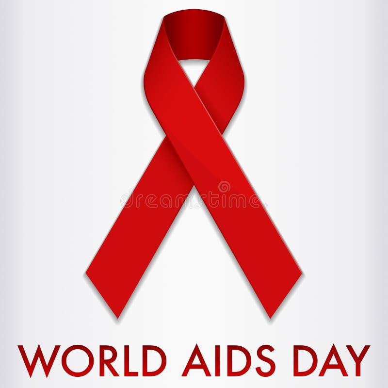 Drapeau de Journée mondiale contre le SIDA illustration de vecteur