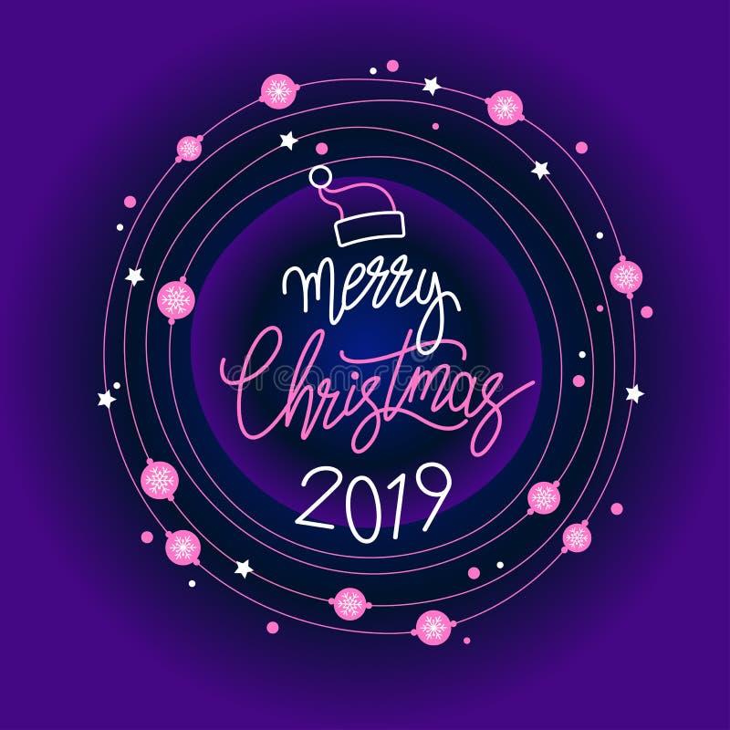 Drapeau de Joyeux Noël illustration stock