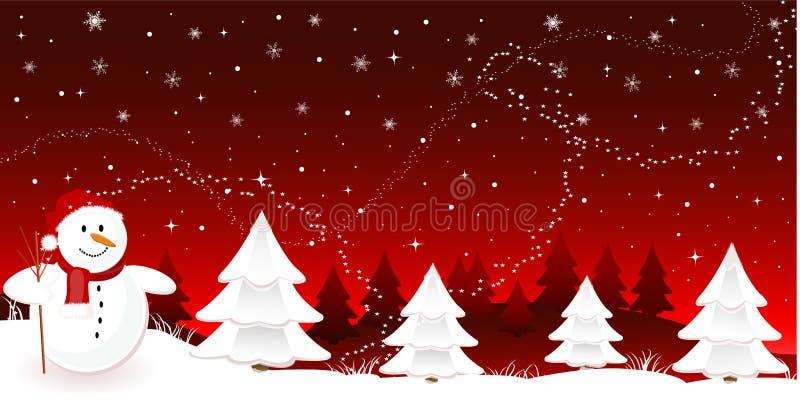 Drapeau de Joyeux Noël illustration de vecteur