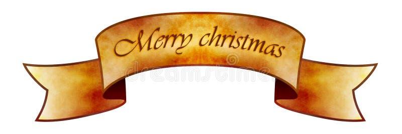 Drapeau de Joyeux Noël illustration libre de droits