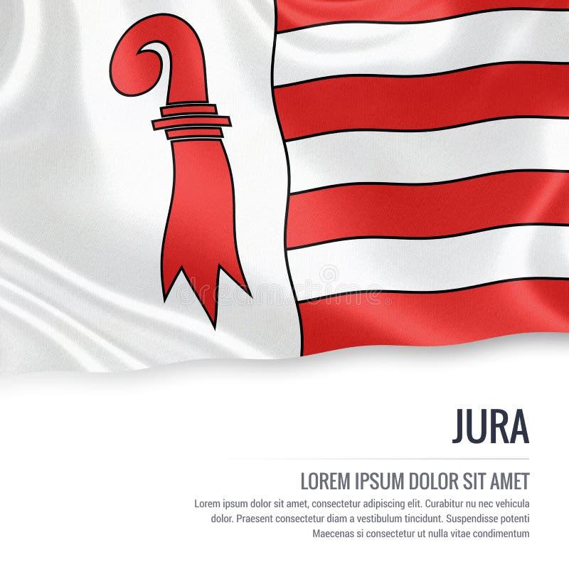 Drapeau de Jura d'état de la Suisse illustration de vecteur