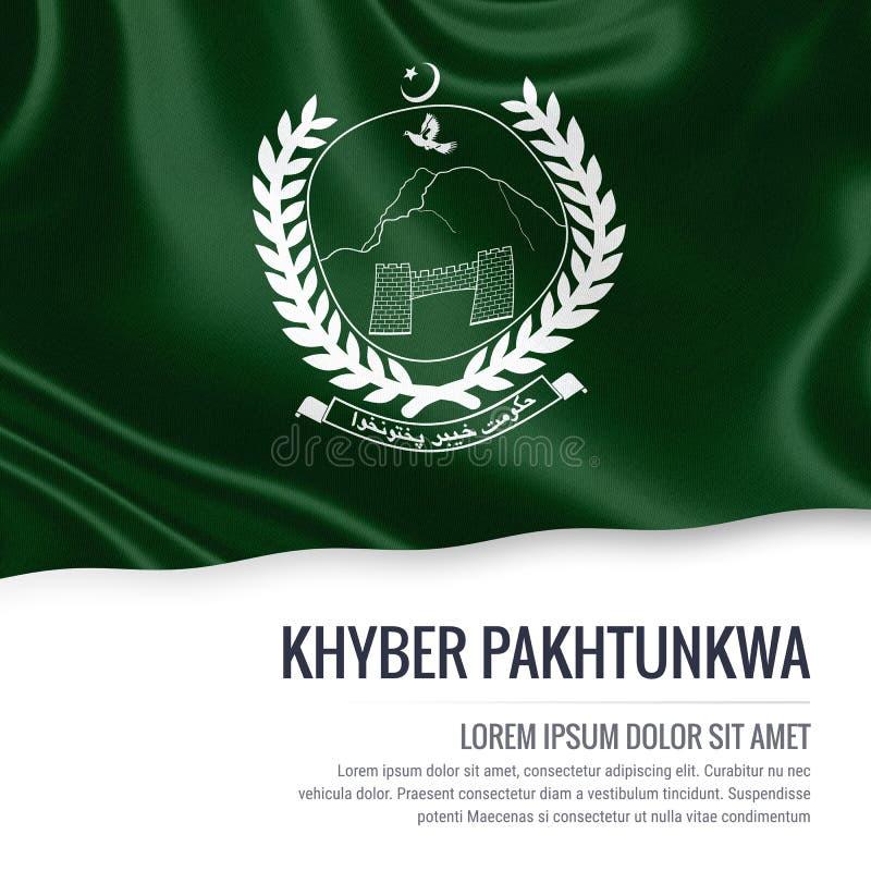 Drapeau de Khyber Pakhtunkwa d'état du Pakistan illustration libre de droits