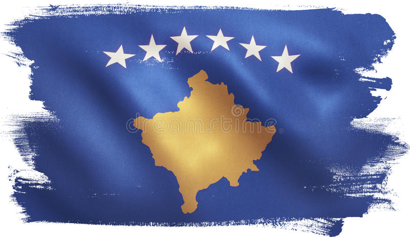 Drapeau de Kosovo illustration libre de droits