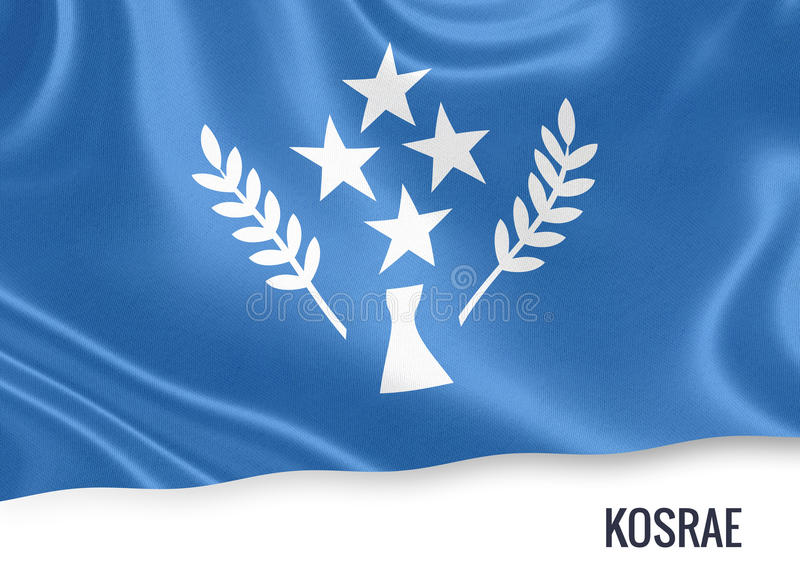 Drapeau de Kosrae d'état des Etats fédérés de Micronésie illustration de vecteur