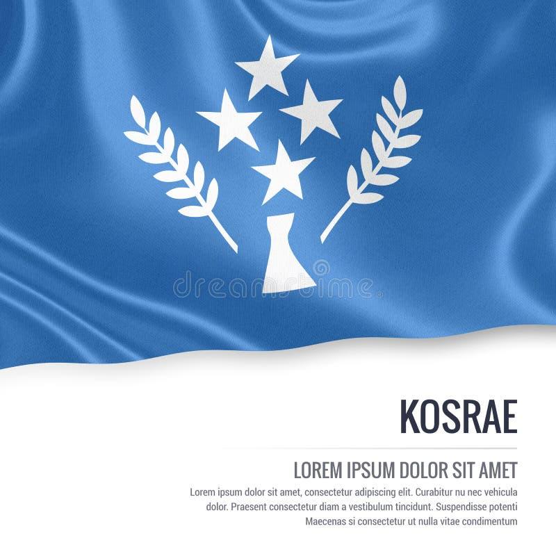 Drapeau de Kosrae Drapeau d'état Kosrae des Etats fédérés de Micronésie illustration de vecteur