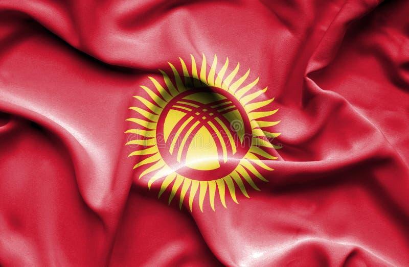 Drapeau de Kyrgyzstanwaving illustration libre de droits