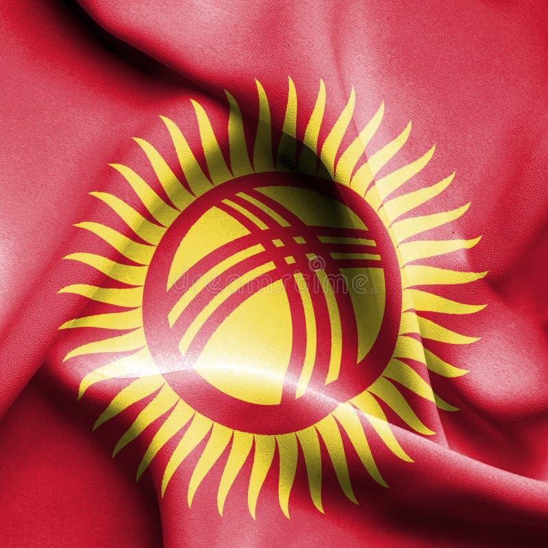 Drapeau de Kyrgyzstanwaving illustration stock