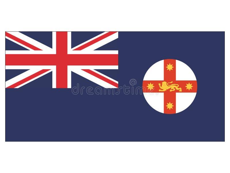 Drapeau de l'état australien de la Nouvelle-Galles du Sud illustration libre de droits