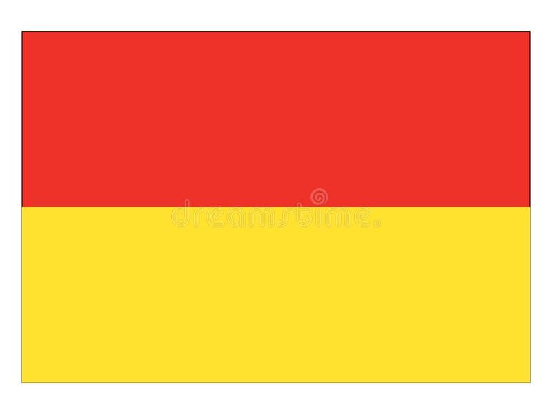 Drapeau de l'état autrichien du Burgenland illustration libre de droits