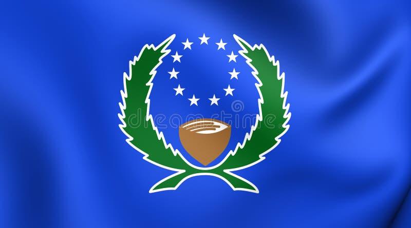 Drapeau de l'état de Pohnpei, Micronésie illustration libre de droits