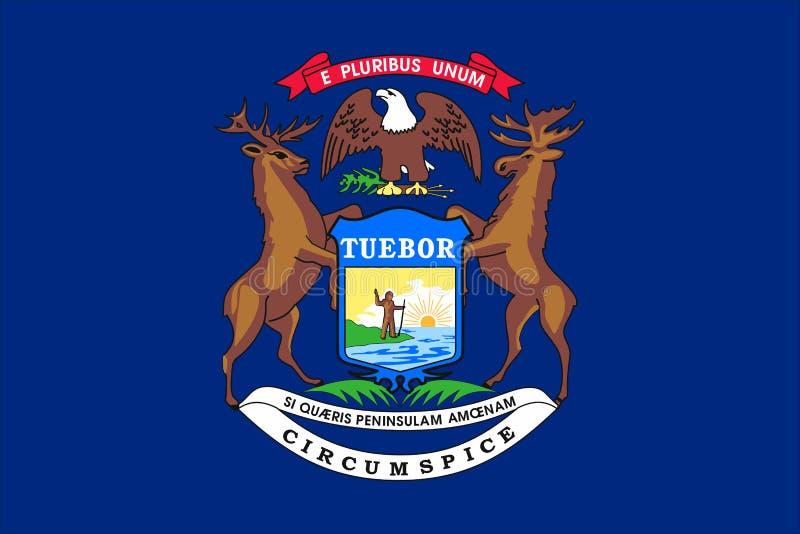 Drapeau de l'État du Michigan des Etats-Unis illustration de vecteur