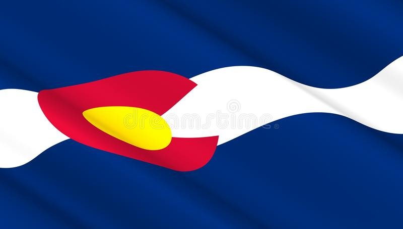 Drapeau de l'état occidental du Colorado photo stock