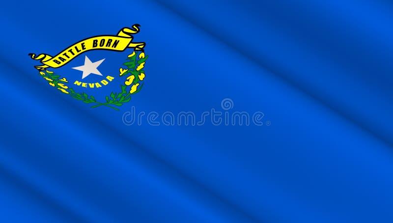 Drapeau de l'état occidental du Nevada image libre de droits