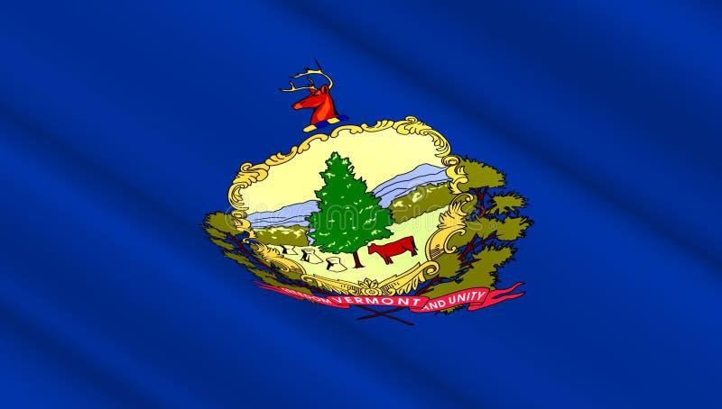 Drapeau de l'état occidental du Vermont photos libres de droits
