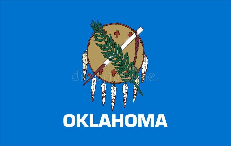 Drapeau de l'?tat de l'Oklahoma des Etats-Unis illustration de vecteur