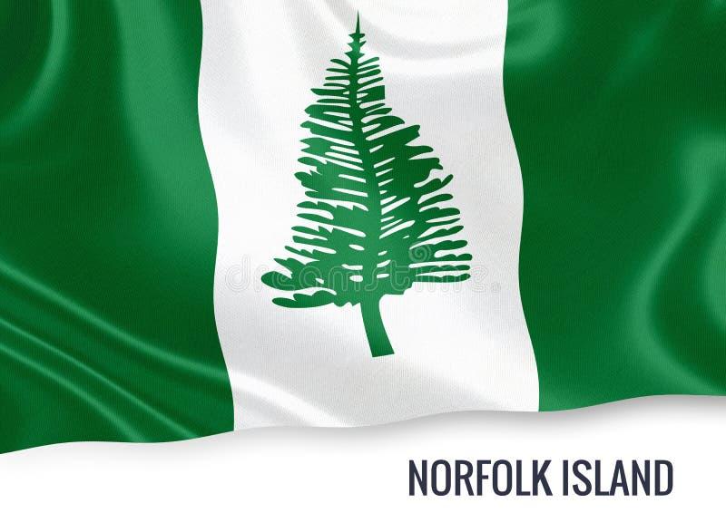 Drapeau de l'Île Norfolk d'état australien illustration stock