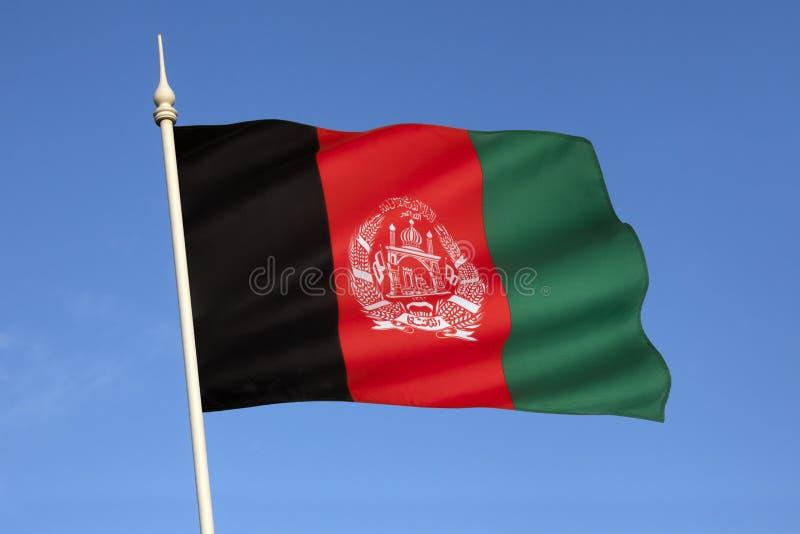 Drapeau de l'Afghanistan - l'Asie centrale images stock