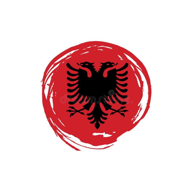 Drapeau de l'Albanie, illustration de vecteur illustration de vecteur