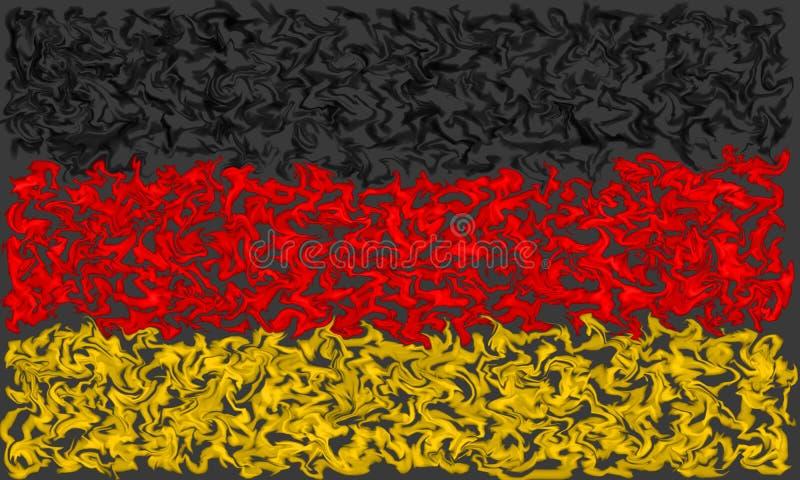 Drapeau de l'Allemagne - conception brûlante enduite de couleurs illustration de vecteur