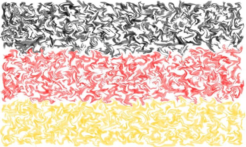 Drapeau de l'Allemagne - conception brûlante enduite de couleurs illustration stock
