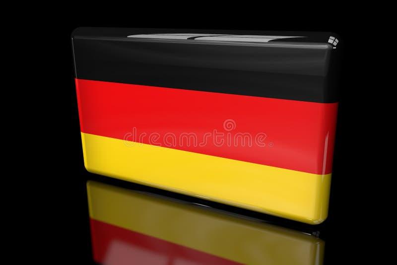 Drapeau de l'Allemagne 3D volumétrique illustration de vecteur