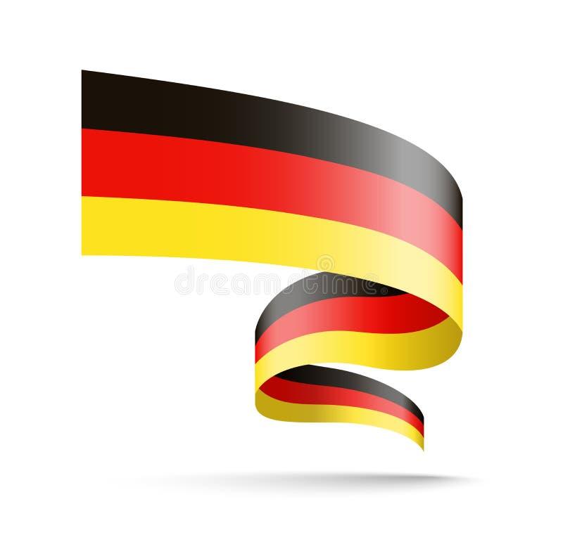 Drapeau de l'Allemagne sous forme de ruban de vague illustration de vecteur