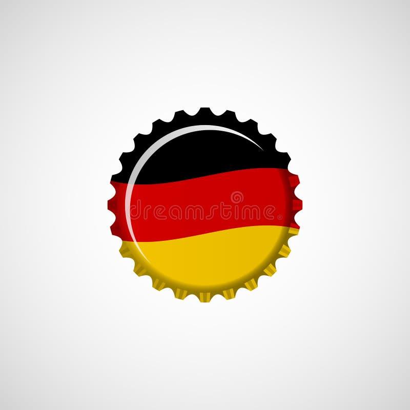 Drapeau de l'Allemagne sur le chapeau de bière illustration stock