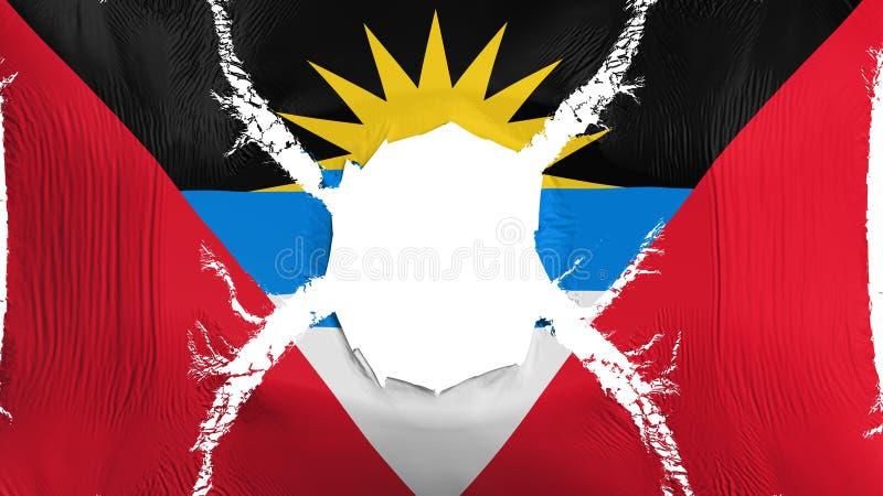 Drapeau de l'Antigua-et-Barbuda avec un trou illustration stock
